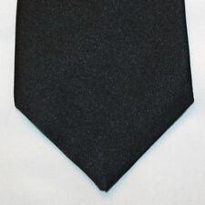 NEW Merona Silk Neck Tie Solid Plain Black 339
