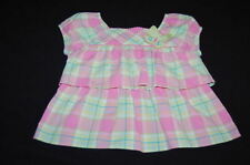 GYMBOREE Palm Springs 2006 Plaid Tiered Ruffle Butterfly Top Shirt 4T 4  WORN 1X
