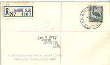 1947 National Antarctic Research Expeditionregistered cover cancelled 7/4/1948