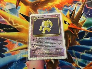 Hypno Legendary Collection - Reverse Holo Fireworks 25/110 - HP (creased) Binder