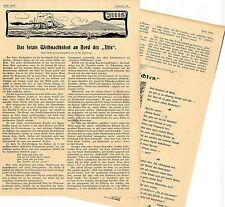 """Das letzte Weihnachtsfest an Bord des """"Iltis"""" Kanonenboot Histor.Memorabile 1899"""
