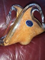 Glass Swan Murano Lavorazione Art Napkin Holder Stickered