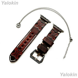 Pisces Zodiac Set Embossed Leather Band for Apple 38 40 42 44mm Watch All Series
