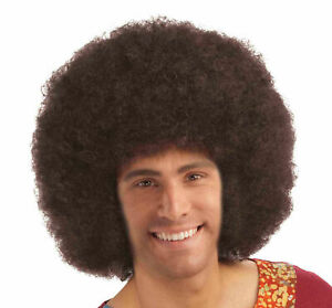 Afro Wig Brown Retro Disco Halloween Costume Accessory Prop 70's 80's Curly New
