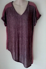 SIZE 10 WOMEN'S DUSTY PINK UNUSUAL  SHORT SLEEVE 'NEXT' TOP BNWT