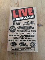 Vox Live and Unreleased 90s Indie Compilation Cassette Tape Teenage Fanclub