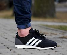 Adidas para hombre V Racer 2.0 Shoes Trainers Negro/Blanco/Gris BC0106 Reino Unido 11, 12