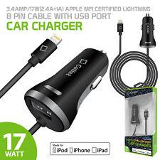 USB Input & Lightning Car Charger Apple iPhone 11 Pro Max Xr Xs Max X SE 8 plus