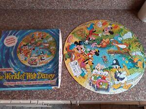 Vintage Waddingtons  The World of Walt Disney Circular Puzzle Multi Characters