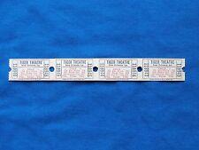 Vintage 75 Cent Tiger Theatre Child Tickets (Strip of 4) Drive-In Movie/Cinema