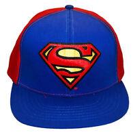 DC Comics Superman Classic Logo Embroidered Patch Snapback Baseball Cap