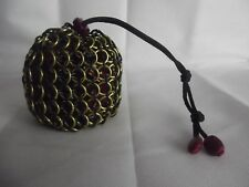 Harry Potter Hufflepuff Large Chainmaille Chainmail Dice Bag Pouch Yellow Black