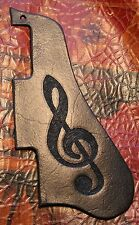 Leather Pickguard - ES 335 Gibson Epiphone Guitar Treble Clef - Hand tooled USA