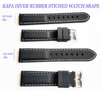 KAPA  Mens Silicone Rubber Waterproof Divers Watch Strap Band PRO