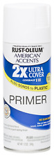 Rust-Oleum 280715 Primer American Accents Ultra Cover 2X Spray Paint, Flat White
