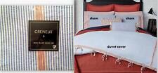 Cremieux CAMDEN KING Duvet Cover & 2 Shams Set Blue Red Seersucker Cotton $229