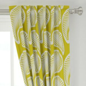 """Paisley Retro Vintage Mid Century Modern 50"""" Wide Curtain Panel by Roostery"""