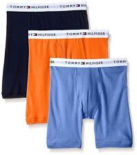 $68 Tommy Hilfiger Underwear Men Blue Orange Cotton Boxer Briefs 3-Pack Size S