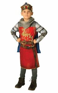 Boys King Arthur Costume Kids Medieval Knights School Book Week FAncy Dress