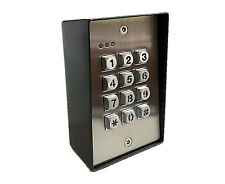 Gate Keypad - Anti Vandal  For Doors and Gates Stainless Steel With Back Light