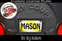 Decals fits Little Tikes Stickers Custom Cozy Coupe License Number Vanity Plate