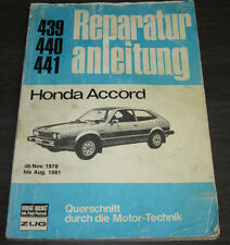 Reparaturanleitung Honda Accord Typ SJ / SM / SV ab November 1978 - August 1981!