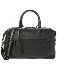 ***NWT***Polo Ralph Lauren Black Pebbled Leather Duffel Bag
