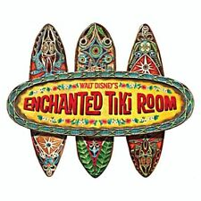 Walt Disney Enchanted Tiki Room Wood Wall Plaque Sign 50TH ANNIVERSARY
