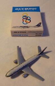 """Schabak  1/600 Airbus A 300 """"OLYMPIC AIRWAYS"""" Diecast plane Boxed excellent RARE"""