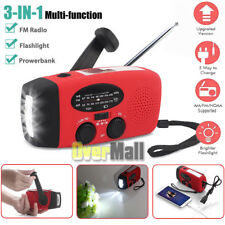 Emergency Solar Hand Crank Dynamo AM/FM/NOAA Weather Radio LED Flashlight Charge