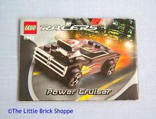 Lego Racers 8643 Power Cruiser - INSTRUCTION BOOK ONLY - No Lego bricks