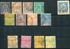 SOUDAN 1894 Yvert 3-15 gestempelt ohne Nr 7 320€(J9576