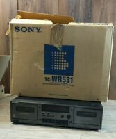 Vintage Sony TC-WR531 Stereo Dual Cassette Deck - For Parts or Repair