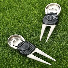 2 x  Alloy Golf Club Ball Marker Pitch Putting Green Divot Fork Repair Tool Lawn