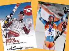 Henrik KRISTOFFERSEN - 2 TOP Autogramm Bilder (2) - Print Copies + 2 AK Skistars