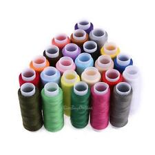24 Colours 200 Yard Polyester Embroidery Hand Stitching Machine Sewing Threads