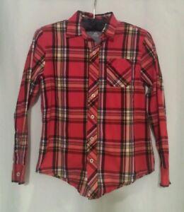 Arizona Plaid Red Shirt Boys Sz. L ( 10-12 )