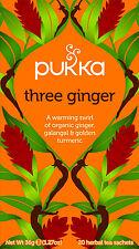 Pukka trois thé au Gingembre-Ginger, Galanga & Golden Curcuma 20 Intercalaires