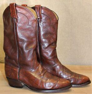 Bottes western santiag homme TONY LAMA cuir marron 9E US 8,5 UK 42,5 EUR 27,4 cm