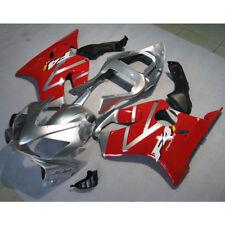 Injection Molded Fairing Kit For Honda CBR600F4I CBR 600 F4I 01-03 Red Silver