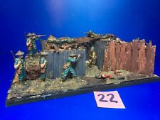 Hand made diorama - 1/32 scale Australian and Japanese troops in a trench
