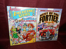 Archie Americana Series Paperback LOT Best of the Forties 1 & 2 Softcover