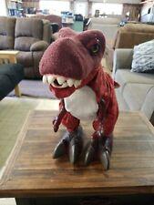 "2008 Hasbro Playskool Kota & Pals Monty T-Rex Interactive Dinosaur Toy 16"""