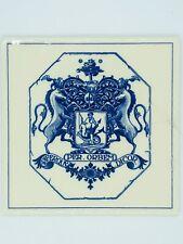 Royal Delft Chelsea Physic Garden Apothecary Tile EUC
