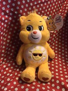 "2020 Care Bears FUNSHINE BEAR 9"" Plush Stuffed Animal Yellow Sunshine"