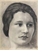 Louis Edmond Jean Mezerette (1893-1963) Porträt von Frau Jules Lapaire Sancoins