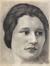 Louis Edmond Jean MEZERETTE (1893-1963) Portrait de femme JULES LAPAIRE SANCOINS