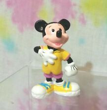 Vintage Disney Mickey Mouse PVC Figure in Yellow Shirt 80's Outfit Applause