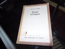 Essais critiques. Roland Barthes