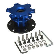 Universal Car Steering Wheel Quick Release Hub Adapter Snap Off Boss Kit Blue ★